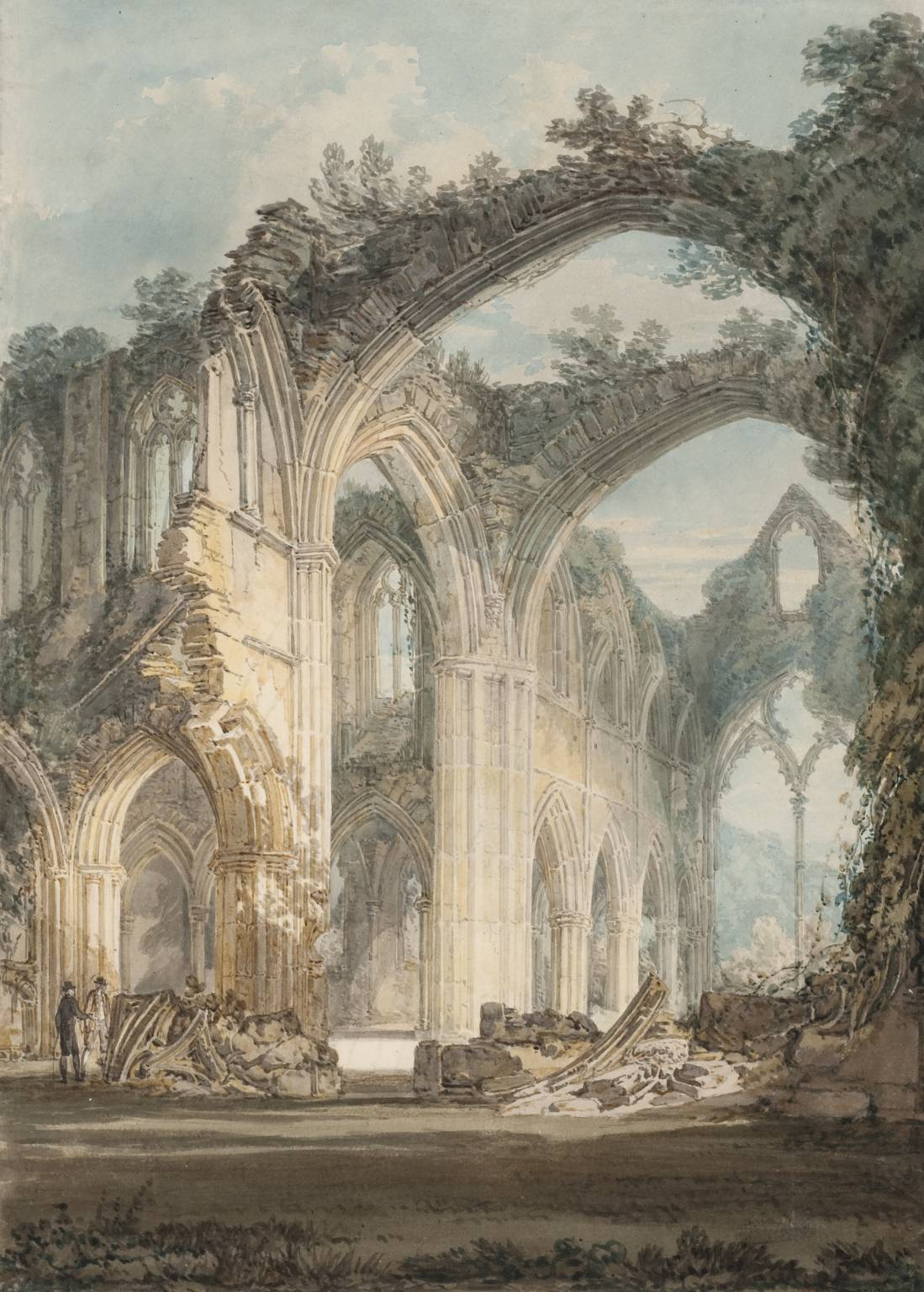 Tintern Abbey, The Crossing and Chancel, Looking towards the East Window 1794