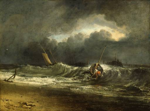 Fishermen upon a Lee-Shore, in Squally Weather 1802