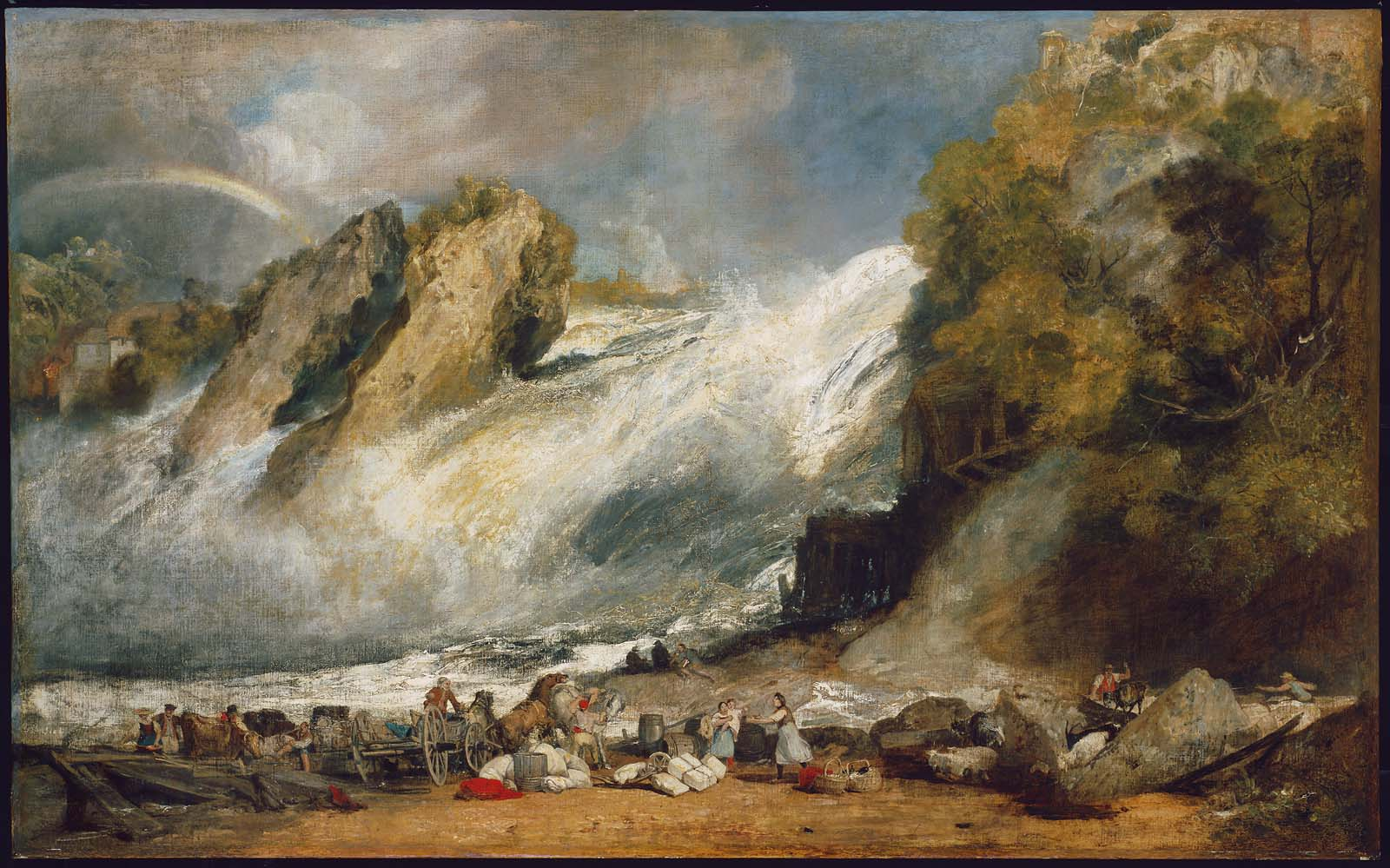 Fall of the Rhine at Schaffhausen 1805-1806