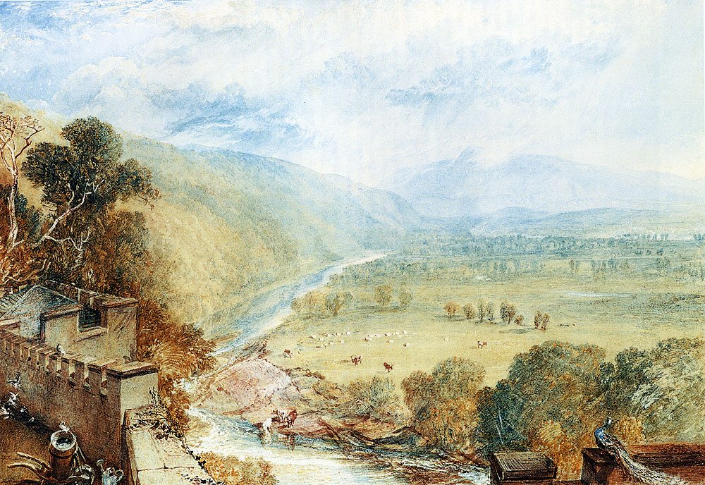 Ingleborough From The Terrace Of Hornby Castle 1816