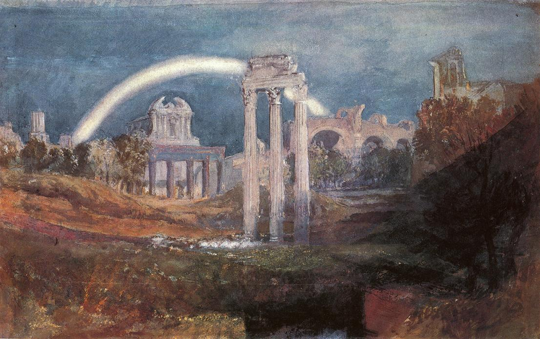 Rome, The Forum with a Rainbow 1819