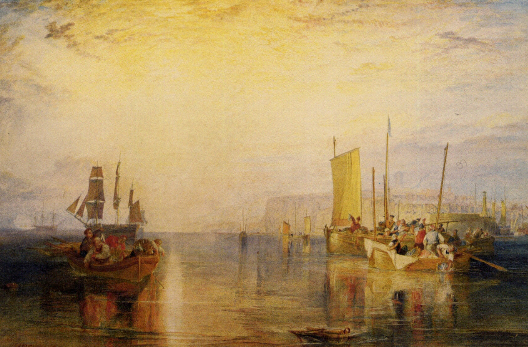 Margate from the Sea, Whiting Fishing 1822