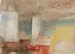 Turner's Bedroom in the Palazzo Giustinian,the Hotel Europa, Venice 1840